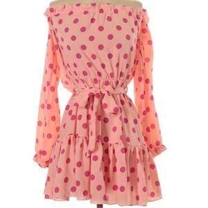 NWT Pretty Little Thing Polka Dot Bardot Dress 🌸